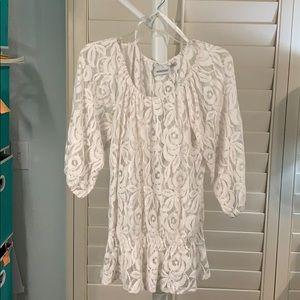 Peplum lace blouse/ cotton 18/20 #A383